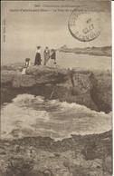 Charente Inférieure , SAINT PALAIS SUR MER , Le Puits De Lauture Et La Grande Côte , 1912 , CPA ANIMEE - Saint-Palais-sur-Mer