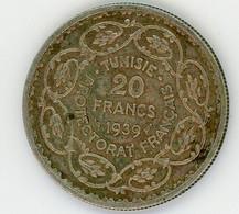 Tunisie Protectorat Français 20 Francs 1939 - Tunisia