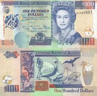 BELIZE 100 Dollars 2017 P 71 D UNC - Belize