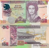 BELIZE 50 Dollars 2016 P 70 F UNC - Belize