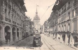 CPA  Suisse, BERN, Die Marktgasse, Tram - BE Berne