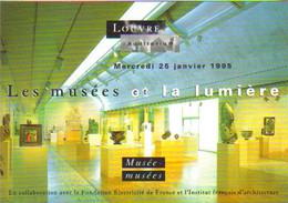 """Carte Postale """"Cart'Com"""" - Série Spectacle, Concert - Louvre Auditorium - Les Musées Et La Lumière (Kimbell Art Museum) - Museen"""