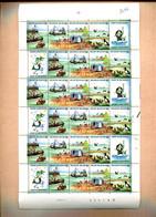 Belgie 1988 2273/76 F2273/76 Sea Mermaid Ship Birds Horse Full Sheet MNH Plaatnummer 2 - Full Sheets