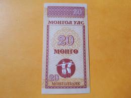 MONGOLIE 20 MONGO 1993 BILLET NEUF - Mongolia