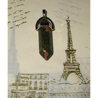 Unakite Crayon Pendentif 3,3 Cm Pierre Naturelle Bien être Et Pouvoir (9) - Minerals