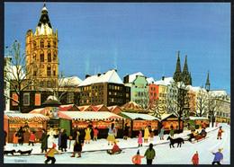 E9974 - TOP Josef Hawele - Köln Markt Weihnachtsmarkt - Künstlerkarte - Non Classés
