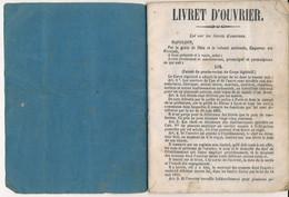 Livret Ouvrier - Daté 1874 - Meurthe-et-Moselle - Gerbéviller - M. MARCHAND Blaise - Boulanger (BP) - Documenti Storici