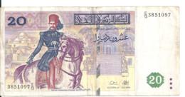 TUNISIE 20 DINARS 1992 VF P 88 - Tunisia