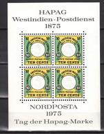 Nordposta 1975,Tag Der HAPAG-Marke(Westindien-Postdienst),4W In NEUdruck In Block(Postfrisch(L3631) - Fantasy Labels
