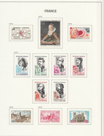 France   .    Yvert    .   10 Pages Avec Timbres   .     *     .    Neuf Avec Gomme  Et Charnière - Unused Stamps