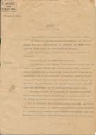 Acte Notarial En Allemand - Notaire F. MARTZ à Saint-Avold (Moselle) - 8 Pages (17 Août 1942) - Documenti Storici