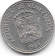 Venezuela 5 Centimos 1964  Km 38.2  Xf+/ms60 - Venezuela
