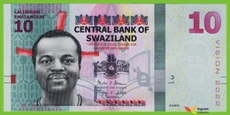 Voyo SWAZILAND (ESWATINI) 10 Emalangeni 2015(2017) P41 B236a AB UNC - Swaziland