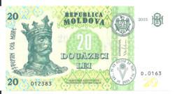 MOLDAVIE 20 LEI  2015 UNC P 23 - Moldova