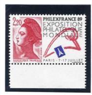 France 2524 Neuf ** ( Philexfrance 1989 ) (cote 1,00€) - Nuovi