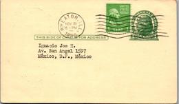 9370 - USA - Ganzsache Mit Zusatzfrankatur , Wheaton USA - Mexico  - Gelaufen 1950 - 1941-60