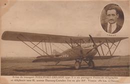 Avion De Transport Nieuport - Delage Type T 2 Six Passagers Postes De Télégraphe Et Téléphonie Sans Fil..... - 1919-1938
