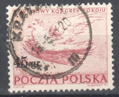 Poland 1951 - Dove By Picasso - Surcharged - Mi 686 - Used - Used Stamps