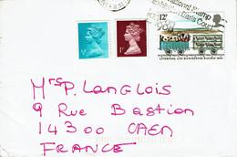 Lettre Pour La France - Tp Elysabeth II   1/2 P + 1p + Liverpool Manchester N°938 - Briefe U. Dokumente