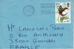 1980 - Lettre Pour La France  - Tp OISEAUX N° 923 - Briefe U. Dokumente