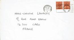 """1980 - Lettre Pour La France - 2 Tp Elysabeth II """"COLLECT BRITISH STAMPS"""" - Briefe U. Dokumente"""