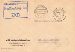 DDR Brief ZKD VEB Akkumulatorenbau Markkleeberg Ost 1964 - Official