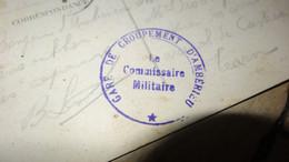 CP WWI Avec Cachet Gare De Grouopement D'AMBERIEU  ............. 4170 - Guerra De 1914-18