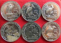 Burundi 6 X 5 Francs 2014 Birds UNC - Burundi