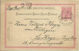 1904 Österreichische Post In Der Levant  Kreta Canea  10 Centimes Auf 10 H.  Gelaufen Nach Den Haag, Holland - Interi Postali