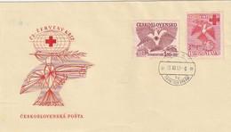 """Tschechoslowakei - 1949 - Mi. 599/600 """"Rotes Kreuz"""" FDC (2152) - FDC"""