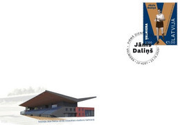 Latvia Lettland Lettonie 2020  Janis Dalins - Walking Olympic Olympic Winner  Los Angeles 1932 FDC - Latvia