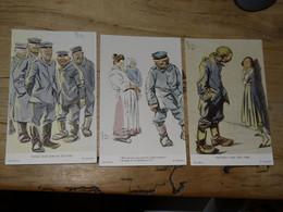 Illustrateurs : Lot De 3 Cartes SACHETTI ............. 4177 - Non Classés