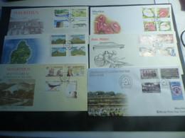 DESTOCKAGE-  MAURICE  6 TRES BELLES ENVELOPPES PREMIER JOUR FDC  EN PARFAIT ETAT - Mauritius (1968-...)