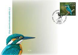 Latvia Lettland Lettonie 2020 Birds - Hazel Grouse - Common Kingfisher  FDC - Latvia