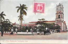Plaza Agramonte, Camagüey, Cuba écrite De Mariel En 1909 - Cuba