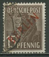 Berlin 1949 Rotaufdruck 25 Gestempelt - Gebruikt