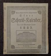 Calendar, Naptar, Kalender - Ofen, Buda, Budapest - 1837 - Formato Piccolo : ...-1900