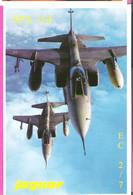 2 Avions De Chasse Jaguar Bi-Place De L'Escadron 2/7  De La SPA 154 En Vol - 1946-....: Ere Moderne