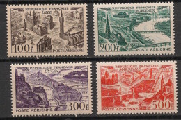 France - 1949 - Poste Aérienne PA N°Yv. 24 à 27 - Série Complète - Neuf Luxe ** / MNH / Postfrisch - 1927-1959 Postfris