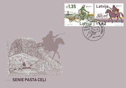 Latvia Lettland Lettonie 2020 Europe - Old Post Roads - Bicycle - Horse FDC - Latvia
