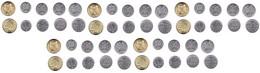 Moldova - 10 Pcs X Set 5 Coins 1 5 10 25 50 Bani 2008 - 2017 UNC Lemberg-Zp - Moldova
