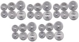 Laos - 5 Pcs X Set 3 Coins 10 20 50 Cents 1952 AUNC Lemberg-Zp - Laos