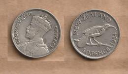 NUEVA ZELANDA   6 Pence 1934 Silver (.500) • 2.83 G • ⌀ 19.3 Mm KM# 2 - New Zealand