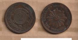 URUGUAY   2 Centésimos 1869 Bronze • 10 G • ⌀ 30 Mm KM# 12, - Uruguay