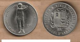 ANDORRA  2 Diners - (1988 Summer Olympics) 1987 Copper-nickel • ⌀ 31.8 Mm KM# 40 - Andorra