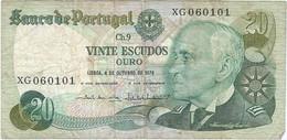 Portugal 20 Escudos 4-10-1978 Pk 176b 2 Ref 4436-2 - Portugal