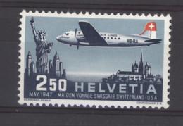 0ch  1325  -  Suisse  -  Avion  :   Yv  41  Mi  479  * - Ongebruikt