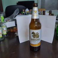 Thailand-beer-SINGHA-the Original Thai Beer-(5%)-(630ml)-used - Beer