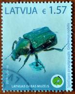 Latvia Lettland 2019 Museum Of Natural History Rare For The Beetle INSEKT (o) Used - Latvia