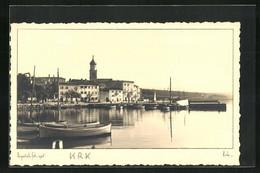 AK Krk, Blick Vom Hafen Zur Kirche - Croatia